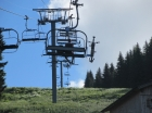 Mountain bike on Chairlift