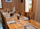 Catered Chalet Dinning area
