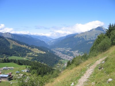 Morzine from Nyon