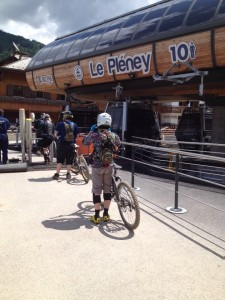 mountain biking Pleney lift