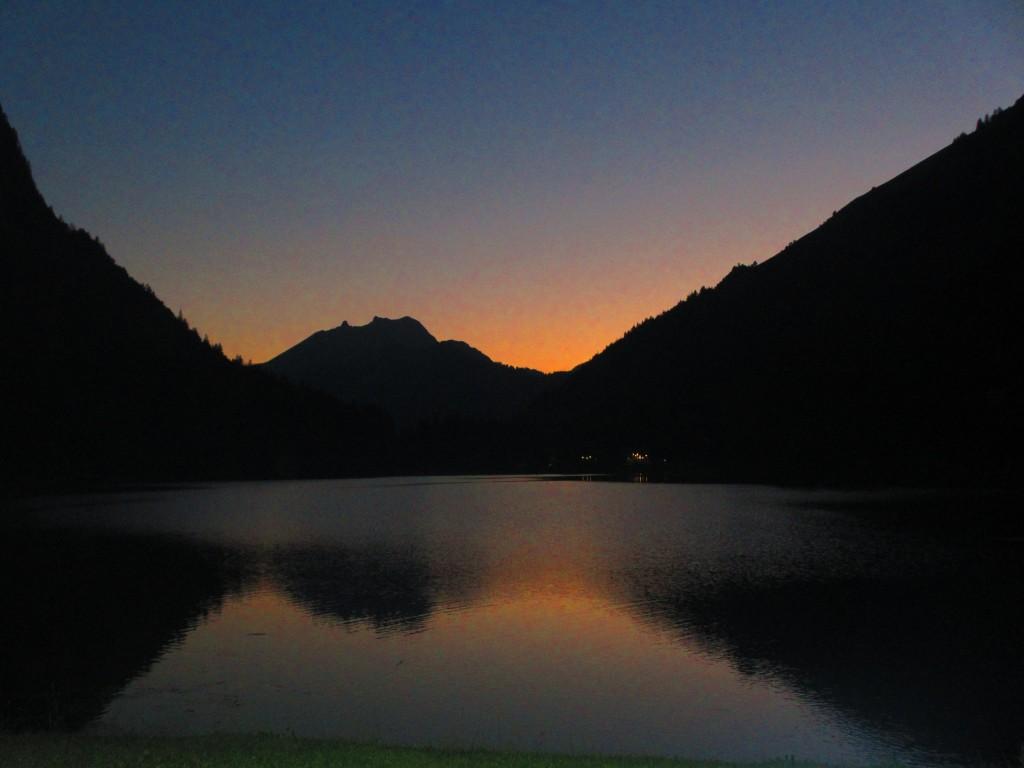 Lac Montriond fireworks, feux du Lac